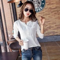 2017 Ladies Linen Blouses Shirts Pink Fashion Women Clothing Cotton Blouse Plus Size Tops white m