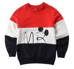 2017 designer boys sweatshirt cotton t shirt for boys cartoon outwear spring autumn boys tops red 100cm