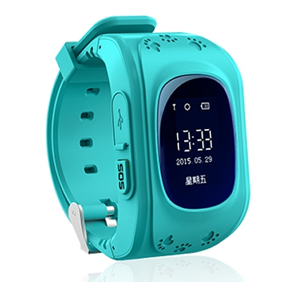 GPS Smart Kid Safe smart Watch SOS Call Location Finder Locator Tracker for Child Anti Wristwatch blue normal