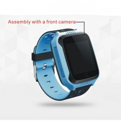 GPS Children SIM Card Camera SOS Call Tracker Safe Anti-Lost Monitor Alarm Clock Baby Smartwatch blue normal