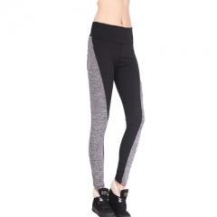 Women Leggings High Waist Elastic Leggings Patchwork Women Pants Femme Sexy Warm Workout Leggings black s
