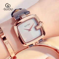 Ladies Watches For Women Watch Women Top Brand Luxury Leather Square Clock relogio feminino saat grey