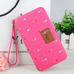 Women's Flowers Pencil Case Wallet Ms. Lunch Box purse Mobile Phone Bags Free Shipping For Women rose red one size