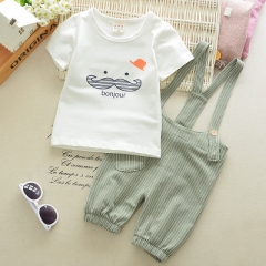 Baby Boy Clothing Sets Summer Newborn Boys Clothes Set Bebe Clothing Set Shirt+Pants Infant Clothes green 70cm