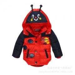 Baby Boys Jacket Winter Jacket For Boys Bees Hooded Down Jacket Warm Outerwear Infant Boys Coat red m
