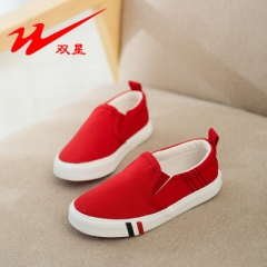 Summer hot sale children canvas shoes comfortable sneakers for kids outdoor boys girls casual shoes red uk8