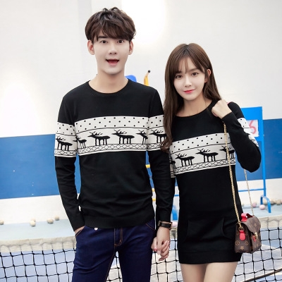 1696094d2c 2018 Fashion Couple Clothes Lovers Christmas Gift For Lovers Cute Korean  Matching Couples Sweaters black girl