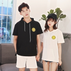 Couples Clothes For Lovers Men Women Printed T-Shirt Cute Sweet Matching Korean Couple T Shirts black s