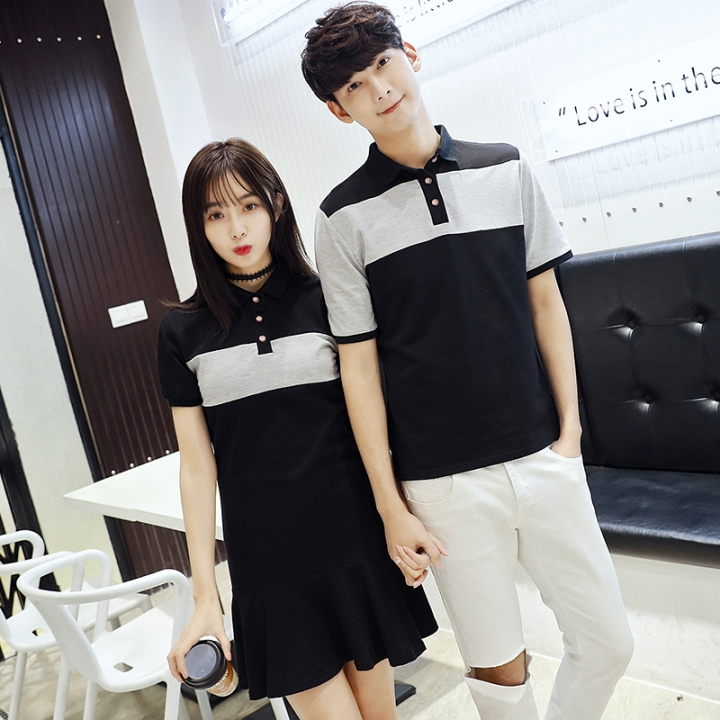 13169688b5e Couple T-Shirts Preppy Style Girls Cute Sweet Tops Cotton Slim Casual  Matching Korean Couple