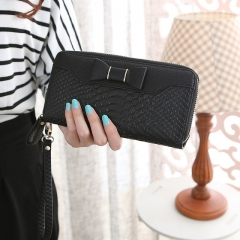 Wallet For Women Wallet Long Lovely Pu Leather For Women Purse Female Coin Card Clutch Big Capacity black one size