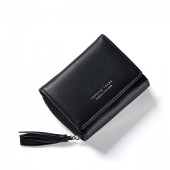 Small Clutch Wallets For Women, Coin Purses Card Holders Invoice Pocket PU Leather Female Lady Bag black one size