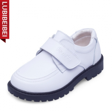 New Kids Genuine Leather Shoes For Boys Children Black Wedding Shoes Boys  Formal Wedge Sneakers White