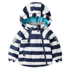 Boys Girls Clothes Cool Jacket Kids Rainbow Colour Windbreaker Windproof Raincoat Boys Outerwear dark blue 90cm