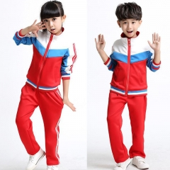 2018 Adults Primary School Uniforms Teenage Kids clothing sports suit for boys girls baseball suit red 100cm