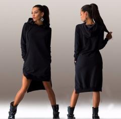 Loose Sweatshirt Hoodies Female Casual Full Sleeve Women Pullover Letter Print Fleeces Hoody Tops black s
