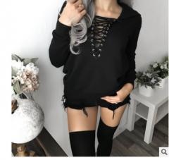 Fashion Women Casual Long Sleeve Hoodies Sweatshirts Hooded Outwear Ladies Jumper Pullover Tops Coat black s