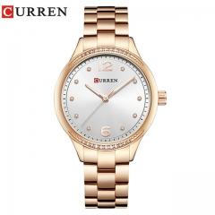 Relogio Feminino Curren Watches Women Luxury Gold Quartz Watch Elegant Wristwatch Gifts For Lady rose white