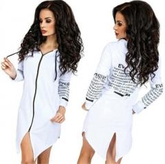 2018 Autumn Jackets Women Long-Sleeved Hooded Hoodies Casual Letter Harajuku Outwear Coat Sweatshirt white s