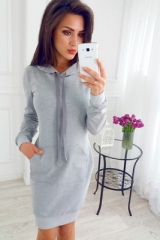 2018 Fashion Hot Women Hoodie Hooded Pullover Jumper Long Sleeve Casual Dresses grey s