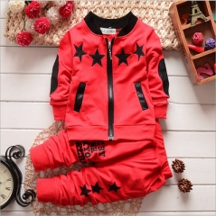 Autumn Baby Clothing Sets Children Boys Tracksuits Kids Sport Suits Kids Long Sleeve Shirt +pants red 80cm