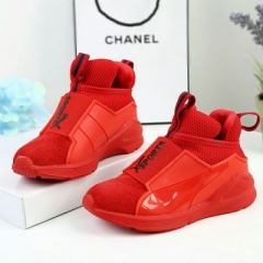 Children Sport Shoes Leather Boys Girls children casual shoes Sneakers Comfortable Kids Flats Shoes red uk9