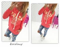 2018 Tracksuit Women Printed Long Sleeve Hoodies O-neck Pullovers Medium-long Hoodies Sweatshirts red s