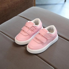 Casual shoes leather boots male female soft outsole shoes baby sport shoes children toddler shoes pink uk5.5