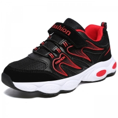 Children Boys Sneakers Cool Leather Walking Shoes Lightweight Sport Shoes Kids Boys Running Trainers red uk12