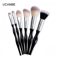 6pcs Soft Makeup Brushes Tool Synthetic Hair Foundation Powder Blush Eye Shadow Eyebrow Brushes Set as picture