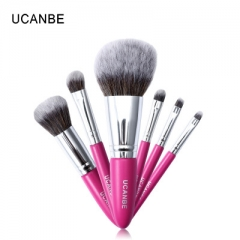 UCANBE 7pcs Makeup Brushes Tool Powder Eye Shadow Eyebrow Blush Foundation Contour Make Up Brush Set as picture