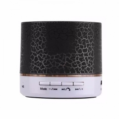 A9 LED Bluetooth Speaker Hands Portable Wireless Speaker With TF Card Mic USB Audio Music Player black 50*50*60mm