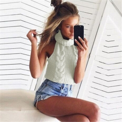 2018 Hot Sweater ladies korea lace up knitted women sweaters and pullovers loose winter sweater white one size