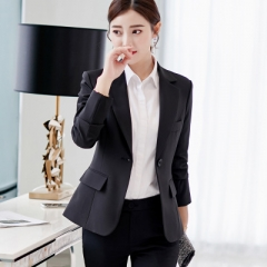 2018 New Long-sleeved Slim Women Blazers And Jackets Small Women Suit Korean Version Ladies Blazer black 2xl