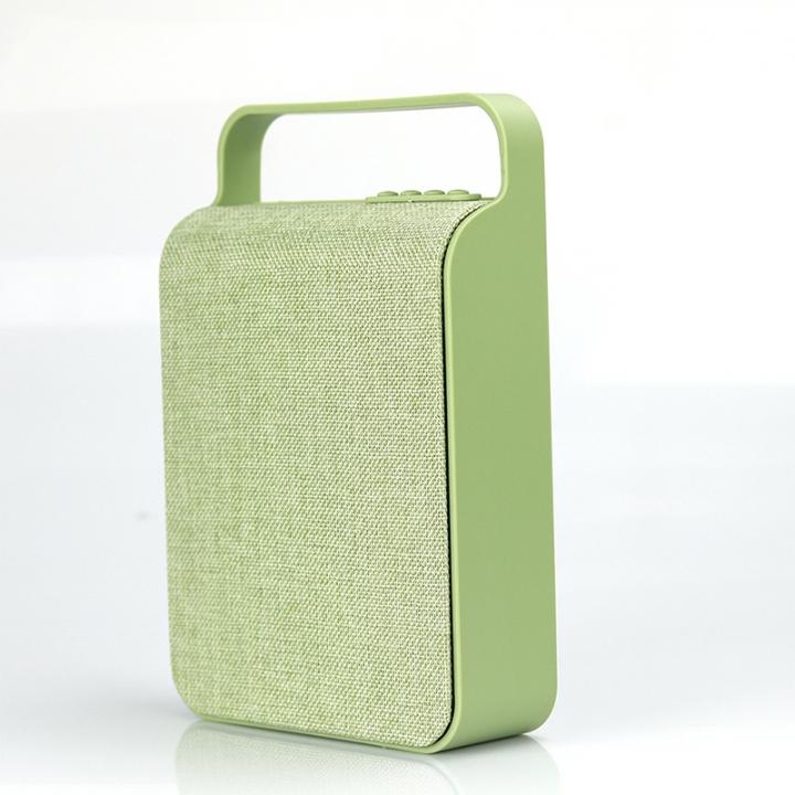 Portable Bluetooth Speaker  Outdoor home TF card USB Wireless Canvas Wireless Speaker green 10W HS-345