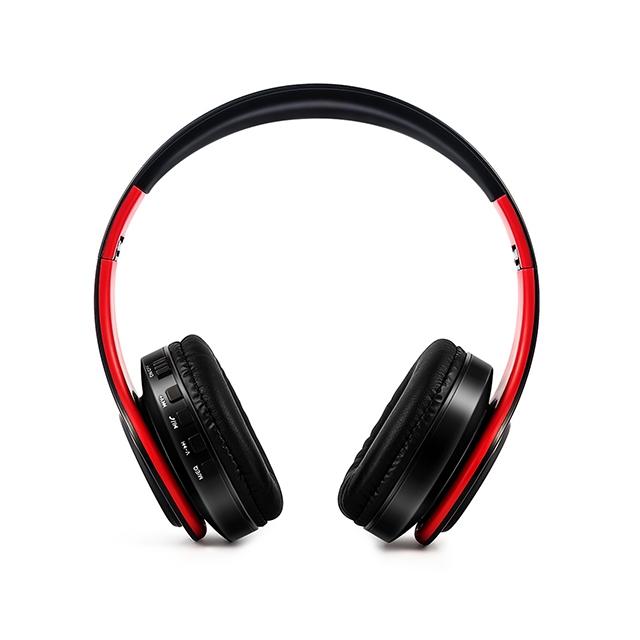 Stereo Wireless Headset Foldable Bluetooth Headphones Adjustable Earphones With Microphone black
