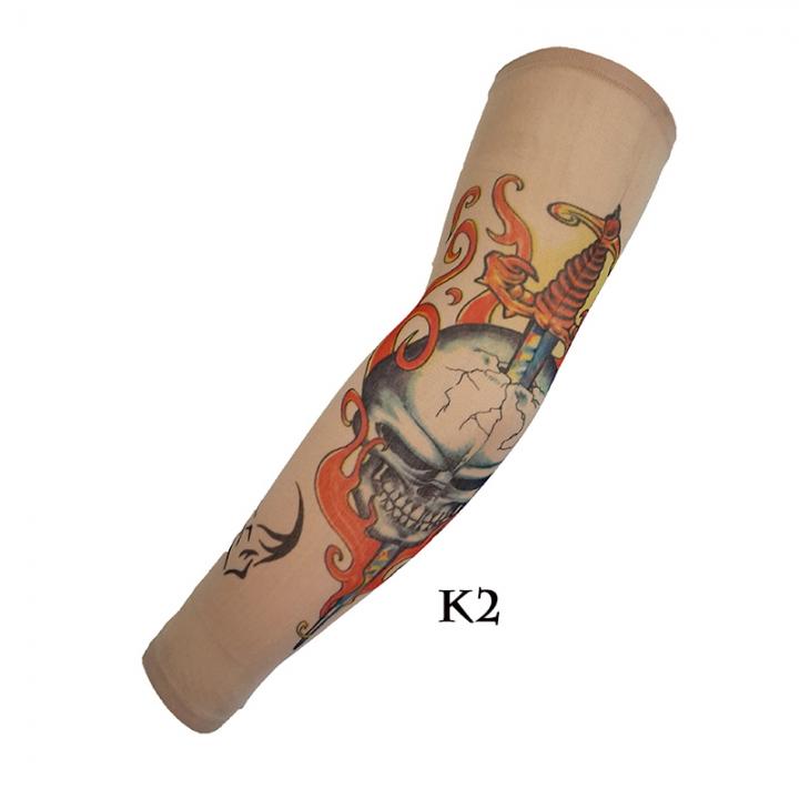 Unisex Nylon Elastic Temporary Tattoo Sleeve Designs Body Arm Stockings Tatoo Cool  Sunscreen  1Pcs