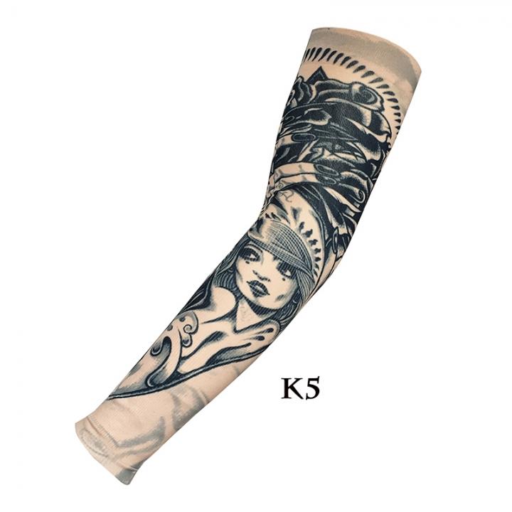 Unisex Nylon Elastic Temporary Tattoo Sleeve Designs Body Arm Stockings Tatoo Cool  Sunscreen  1Pcs k5