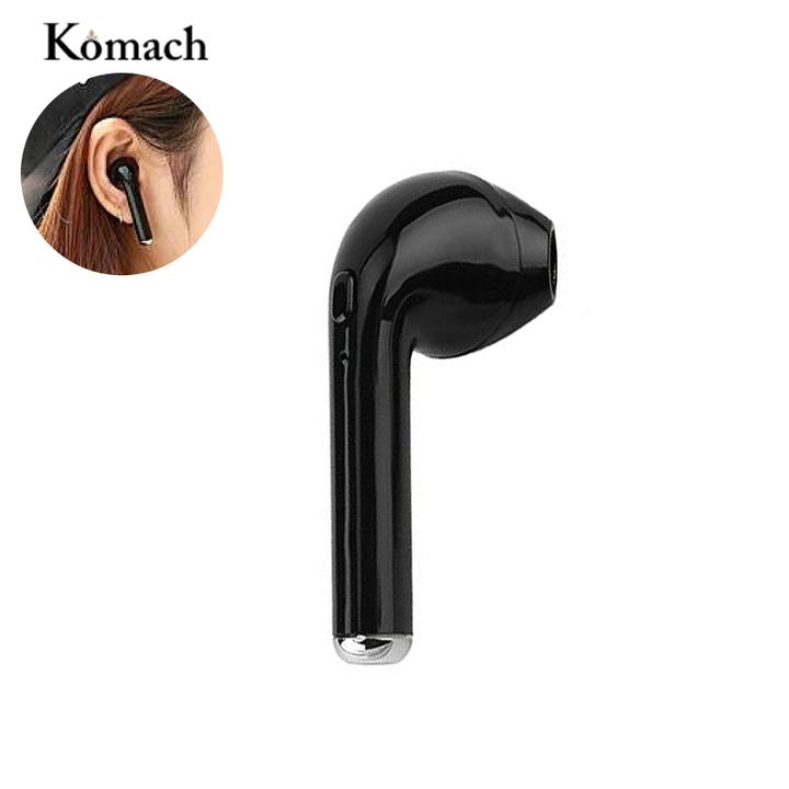 I7 Bluetooth Wireless Headphone Music Airpods Headset Single Stereo Earphone with Mic black