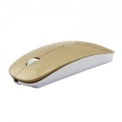 Bluetooth Mice for Dell/Hp/Lenovo Ideapad 2.4G Wireless Mouse Rechargeable gold #01