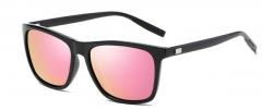 New sunglasses aluminum and magnesium square dazzle sunglasses wear glasses pink #01