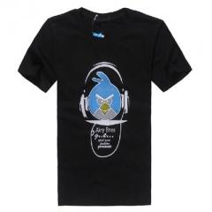Cute funny DJ Smiling face Print t-shirt men cotton Short sleeve Plus Size t shirt fashion casual black m