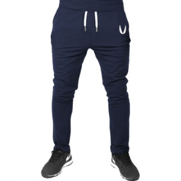 Jogger Pants Men Fitness Bodybuilding Gyms Pants For Runners Clothing Autumn Sweat Trousers Britches dark blue s