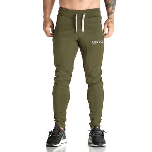 2018 Fashion Hot Spring Casual Pants Men Fashion Embroidered Trousers Zipper Brand Clothing army green 2xl