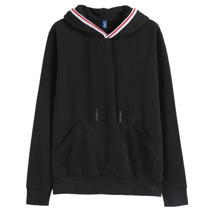GustOmerD Brand  New Design Hoodies Men Casual Solid Basic Sweatshirt Men Sportingwear Hoody Men black size S 50 to 58kg
