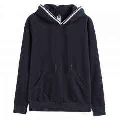 GustOmerD Brand  New Design Hoodies Men Casual Solid Basic Sweatshirt Men Sportingwear Hoody Men navy size XXL 80 to 88kg
