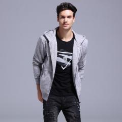GustOmerD Basic Hoodies Men Brand Clothes Sporting Hoody   Zipper Hooded Jackets Mens Sweatshirts grey s