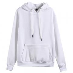 GustOmerD Hoodies Solid Cotton Hoody Mens Sweatshirt Thicken Velvet Male Solid Casual Hooded Jacket white xxl