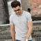 GustOmerD Slim Fit Solid Fitness Brand Clothes Men Casual Cotton T Shirts High Quality Tops light grey size xxl 72 to 80kg