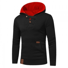 2017 New Men's Fashion Clash hat Casual Sweater City Boy Tailor Made Sweater Coat black size m 50 to 58kg