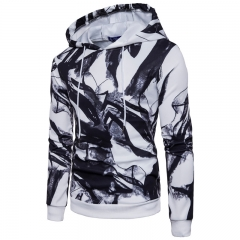 2017  Set Ink Of Digital Printing Head Men's Hooded Sweater Air Layer white size s 50 to 58kg